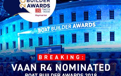 Vaan R4 Nominated for Boat Builder Awards 2019